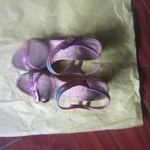 Vanelli Multi Color Wedge Leather  Sandles
